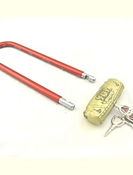 Alarm Padlock For Glass Door,Alarm Glass Door Lock for Antique Brass Finished
