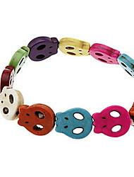 Colorful Turquoise Skull Bracelet
