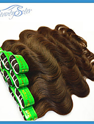 Indian Virgin Human Hair Weaves Body Wave 400Grams Lot Color Brown Grade5A No Shedding No Tangles