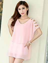 Women's Pink Blouse Sleeveless