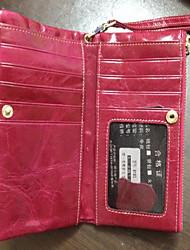 MEGA Women's Genuine Leather Short Wallets Wristlets Coin Case Purse Key Hoder Wallets