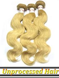 """3шт / много 12 """"-26"""" России девственных человеческого волоса ткачество цвет волны 613 тела"""