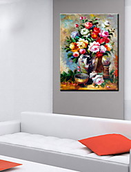 Oil Paintings One Panel Modern Abstract Floral Hand-painted Canvas Ready to Hang