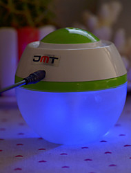 JMT Mini Ultrasonic 2W USB Powered Air Humidifier - White + Green (400ML)