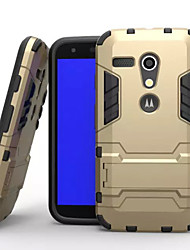 Plastic Hard Case with Stand Armor Shockproof Back Case for Motorola moto G