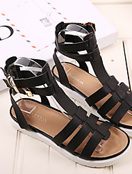 Women's Shoes Faux Leather Wedge Heel Wedges Sandals Outdoor/Casual Black/Silver/Gold