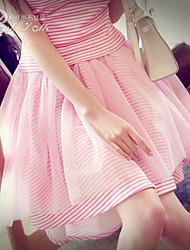 Pink Doll®Women's Casual/Mesh Asymmetrical Trumpet/Mermaid Skirt
