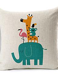 современный стиль мультфильма слона рисунком хлопок / лен декоративная подушка крышка