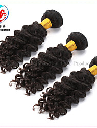3 Pieces 5A 2015 Hot Sale Natural Colour Deep Wave Virgin  Malaysian Hair Weave