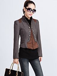Women's Vintage/Casual Medium Long Sleeve Short Blazer (Others)