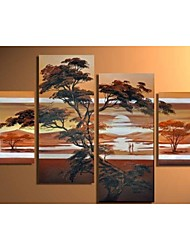 Hand-Painted Modern Oil Painting On Canvas African Scenery  Wall Decor Landscaping  No Frame