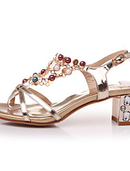Women's Shoes  Kitten Heel Gladiator Sandals Office & Career/Dress Silver/Gold