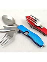 acampar al aire libre utensilios de cocina de acero inoxidable