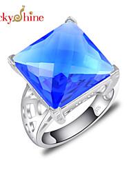 Anelli Per donna / Da uomo / Unisex Cristallo Argentato Argentato 7 / 8 / 9 Argentato I colori delle decorazioni sono come da immagine