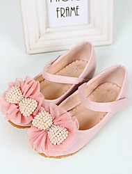 Girls' Shoes Outdoor Round Toe/Closed Toe Flats Pink/Beige