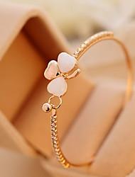 Bowknot  Opal Inlay Sweet Clover Bracelet