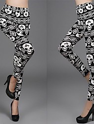 Pantalones ( Rayón )- Sexy/Bodycon/Casual/Impresión Mujer