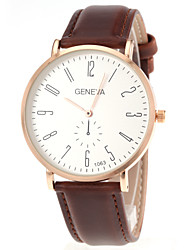 Men's Slim Case PU Strap Quartz Wrist Watch (Assorted Colors)