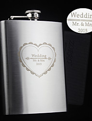 Personalized Stainless Steel Hip Flasks 8-oz Love  Flask