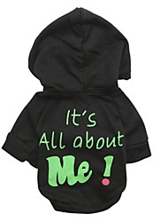 """Lovely """"It's All about Me"""" Pattern Fleece T-Shirt with Hoodie for Pets Dogs (Assorted Colors, Sizes)"""