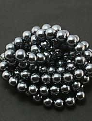 beadia 2 str (aprox 230pcs) esferas de vidro esferas 8 milímetros imitação de pérolas redondas de cor preta espaçador diy pérolas soltas