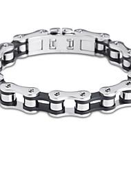 Homme Chaînes & Bracelets Acier inoxydable Style Punk Mode Bijoux Argent-Noir Bijoux 1pc