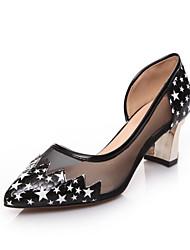 Women's Shoes Chunky Heel Heels / Peep Toe Heels Casual Black / White