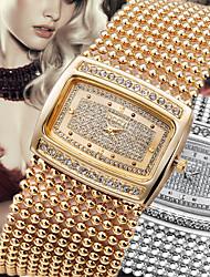 Luxury Classic Crystal Womens Lady Wrist Quartz Watch Dressed Bracelet Bangle Smart Diamond Rhinestone 2 Colour