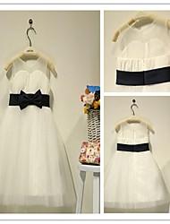 Flower Girl Dress Tea-length Chiffon A-line Sleeveless Dress