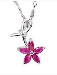 véritable volcan rubis naturel bijoux collier en argent cadeau ornement sp0140r