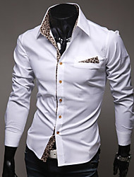 High-Quality Chinese Style Mens Shirts Fashion 2015 Long-Sleeve Shirt 2 Color M-2XL