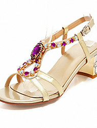 Women's Shoes Leather/Synthetic/Glitter Chunky Heel Gladiator/Novelty Sandals Party & Evening/Dress/Casual Silver/Gold