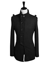 What lees Men's Casual Pure Long Sleeve Regular Trench coat