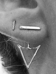 Feminino Brincos Curtos bijuterias Liga Forma Geométrica Jóias Para