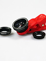 Universal 3 in 1 Wide Angle lens /Macro lens/180 Fish Eye Lens with Captain/ Spider Man Clip