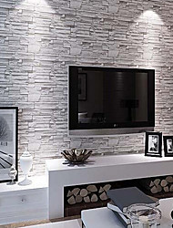 Modern 3D Brick Pattern Wallpaper 0.53m*10m Wall Covering PVC/Vinyl Wall Art