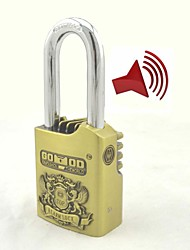 Alarm Padlock Home Garage Electronic Alarm Security Locks Antique Brass