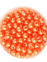 beadia 64g (aprox 300pcs) abs perlas 8 mm de plástico de color ronda ornage perlas sueltas accesorios de bricolaje
