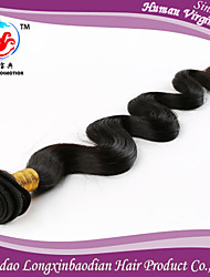 Fasion Style Factory Wholesale Price 18Inch Natural Color Body Wave Hair 100% Remy Peruvian Human Hair Weaving