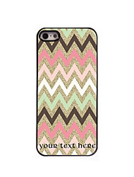 Personalized Gift Colorful Stripe Design Aluminum Hard Case for iPhone 5/5S