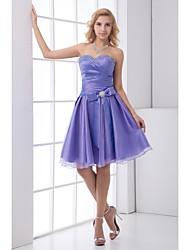 Formal Evening Dress Sweetheart Knee-length Satin/Tulle Dress
