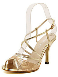 Women's Shoes Stiletto Heel Heels Sandals Outdoor/Dress Silver/Gold