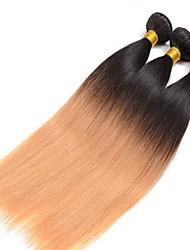 Menschenhaar spinnt Brasilianisches Haar Gerade 3 Stück Haar webt