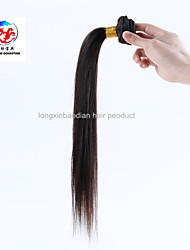 "16"" Natural Color Good Quality Qingdao Factory Wholesale Price 100% Indian Remy Human Hair Straight Weave"