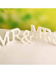 """Свадьба Декор """"г-н&ВВС """"автономных деревянное простые письма белый алфавит Декорации для вечеринок"""