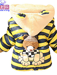 Waboats Kids Boys' Villi Cartoon Bear Hooded Outwear Jacket