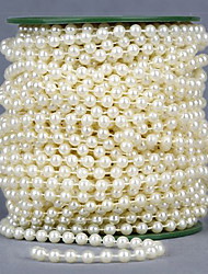 25 Meters White Pearls Beads Chain Garland for Wedding Party Decoration