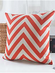 Modern Style Wavy Pattern Cotton/Linen Decorative Pillow Cover