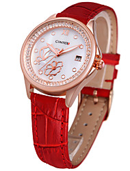 COMTEX fashion leather Diamond Ladies quartz watch