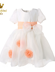 Girl White Tulle Fairy Princess Dress With Bow